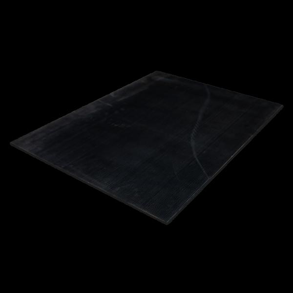 SBR Feinriefenmatte schwarz 1